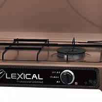 Газовая плита LEXICAL LGS-2812-5 настольная на 2 конфорки  (RZ711), фото 3