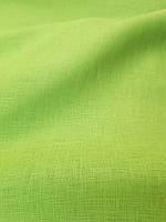 Льняная сорочечная ткань салатового цвета