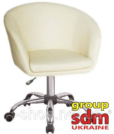 Кресло парикмахерское Мурат К экокожа, цвет белый