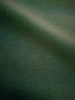 Льняная легкая ткань бутылочно - зеленого цвета