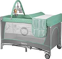 Манеж-кровать Lionelo Flower Turquoise (lio_Fl02)