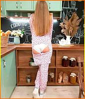 Пижама женская с карманом на попе попожама Цветы комбинезон кигуруми
