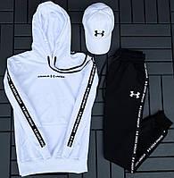Спортивный костюм мужской Under Armour осень весна (кофта+штаны) белый. Живое фото. Чоловічий спортивн костюм