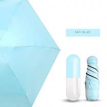 Мини зонт в капсуле Mini Capsule Umbrella blue  (RZ477), фото 3