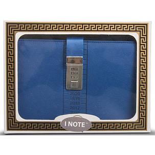 Блокнот-ежедневник с кодовым замком CAGIE Biz 96 Синий  (RZ490), фото 2