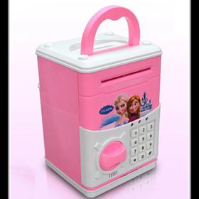 Детская копилка сейф с кодовым замком и купюроприемником для бумажных денег и монет Frozen  (RZ774)