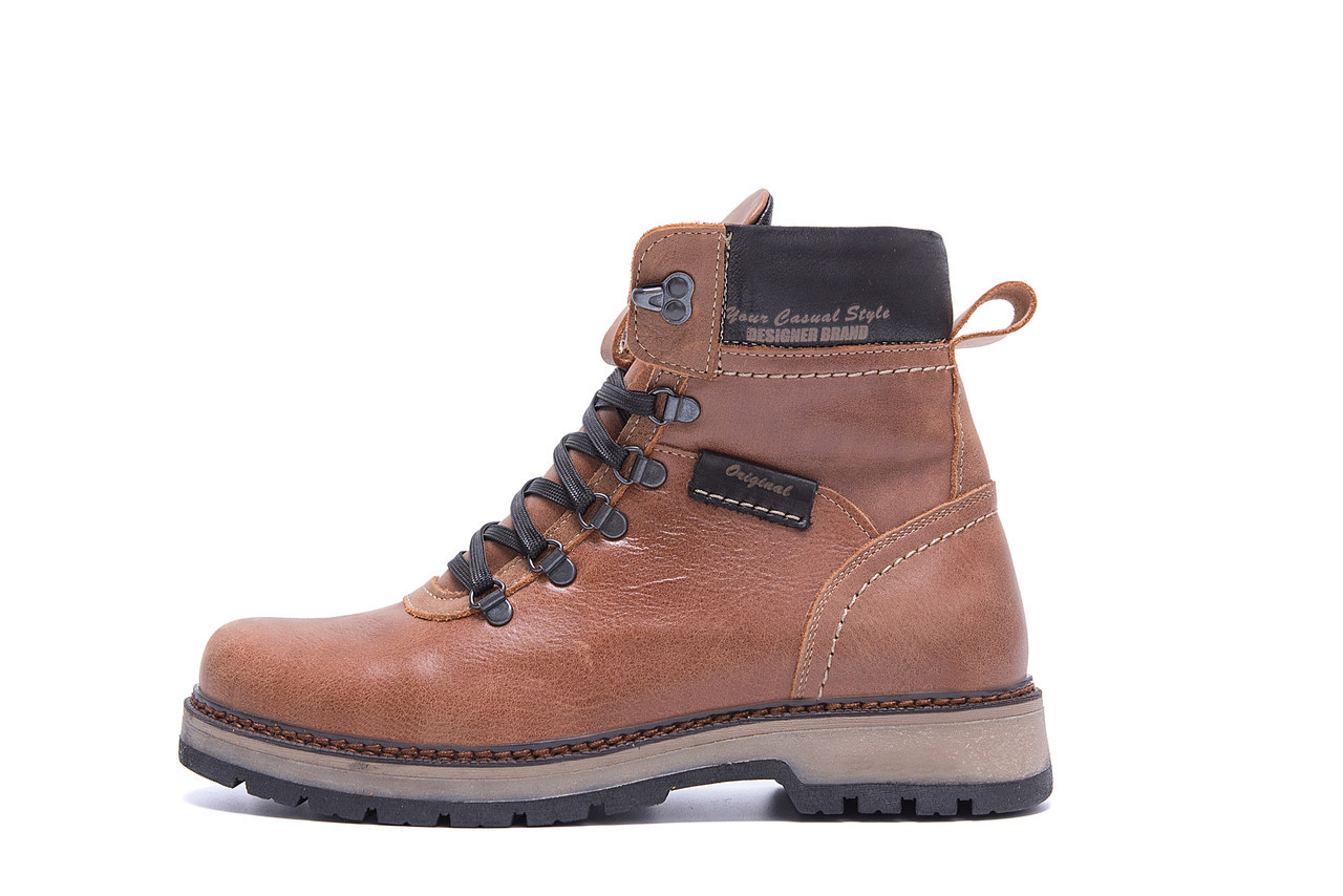 Мужские зимние кожаные ботинки ZG Brown Military Style р. 40 42 43 44