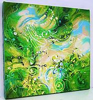 Живопись Картина маслом абстракция холст акрил Авторская ручная работа художника Декор стен интерьер дома кафе