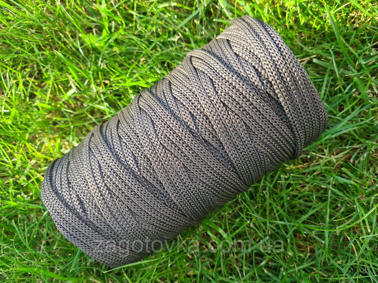 Полипропиленовый шнур 5мм, цвет Тёмно-серый