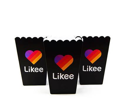 Коробочки стаканчики паперові для солодощів і попкорну Лайки Likee 5 штук