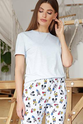 Женская милая домашняя пижамка Микки Маус Размеры S M L XL, фото 2