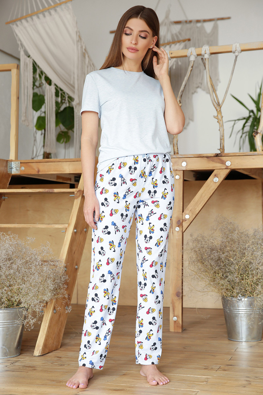 Женская милая домашняя пижамка Микки Маус Размеры S M L XL