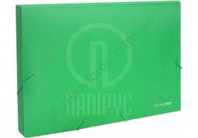 "Папка на гумці-бокс пластикова А4, 20мм, фактура ""діамант"", зелена, EconoMix, Е31401-04"