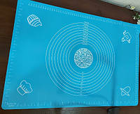 Коврик для раскатки теста силиконовый коврик 45*64 см