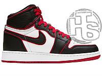 Женские кроссовки Air Jordan 1 Retro High Bloodline Black White Red ALL02606
