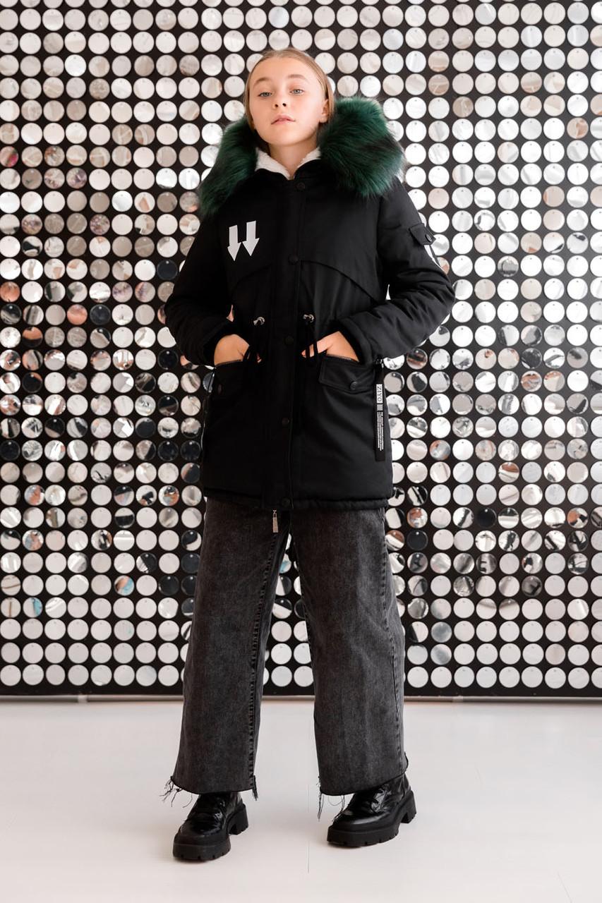 Детская зимняя куртка на девочку «ZKD-15»
