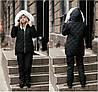 Р 42-48 Зимовий костюм з хутром на капюшоні 22498