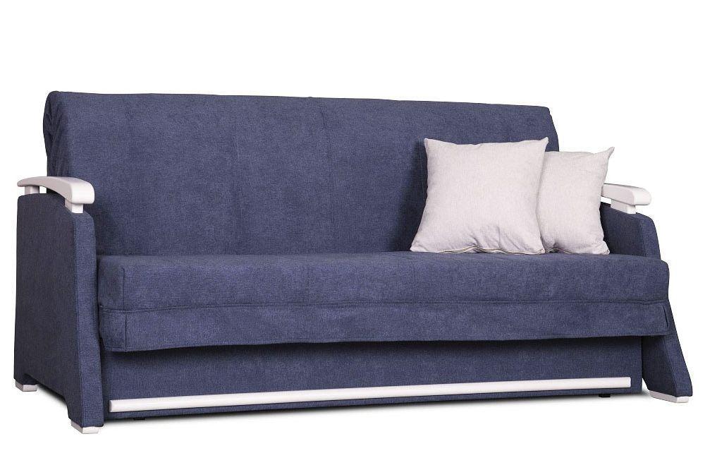 Синий диван - кровать аккордеон Марсель от 0,7 м до 2м Константа