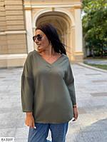 Удобный женский джемпер больших размеров 50-56 арт 15381
