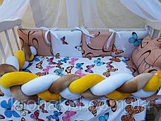 """Набор постельного белья в детскую кроватку/ манеж """"Коса"""" - Бортики / Защита в кроватку, фото 3"""