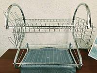Сушилка для посуды Стойка для хранения посуды двухъярусная