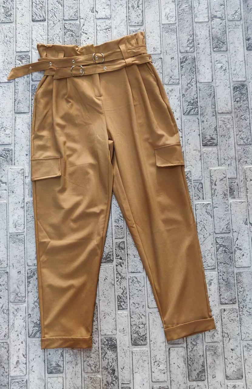 Молодежные женские брюки стиля сафари (S-L)