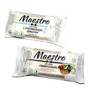 Мыло хозяйственное белое в ассортименте 125 г Maestro Для стирки