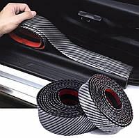 Молдинг лента Карбон универсальная шириной 50мм для тюнинга и защиты кузова автомобиля