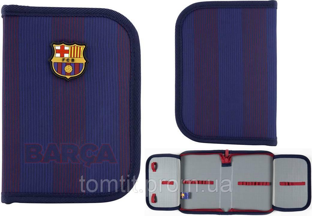 Пенал - книжка FC Barcelona - Футбольный клуб Барселона BC20-622  раскладной с 2 отворотами, ТМ Kite (Кайт)