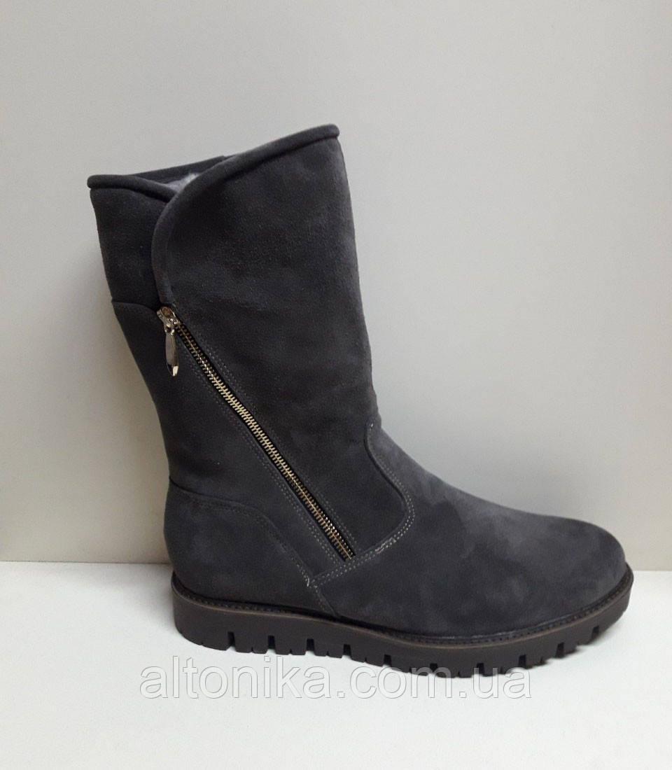 STTOPA зима 25 см Размеры 40-45. Угги сапоги кожаные больших размеров! С10-42-4045-28-3345 Черные