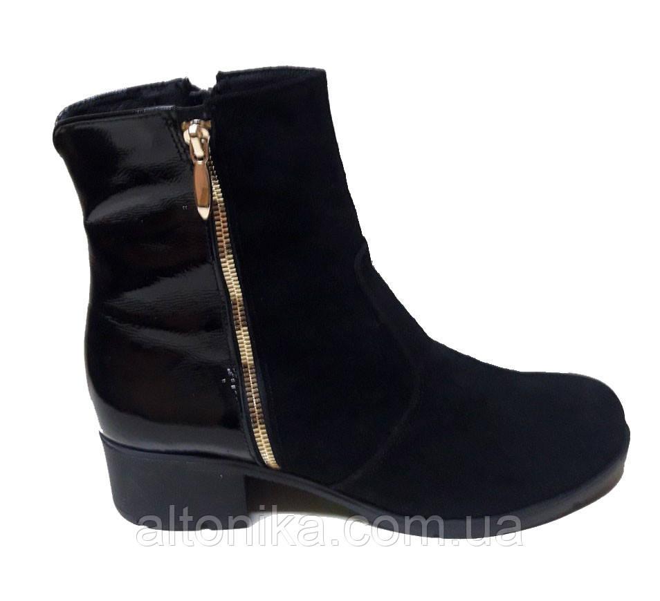 STTOPA деми зима. Размеры 36-44. Ботинки кожаные больших размеров! С9-33-3642-45-3644 Черные