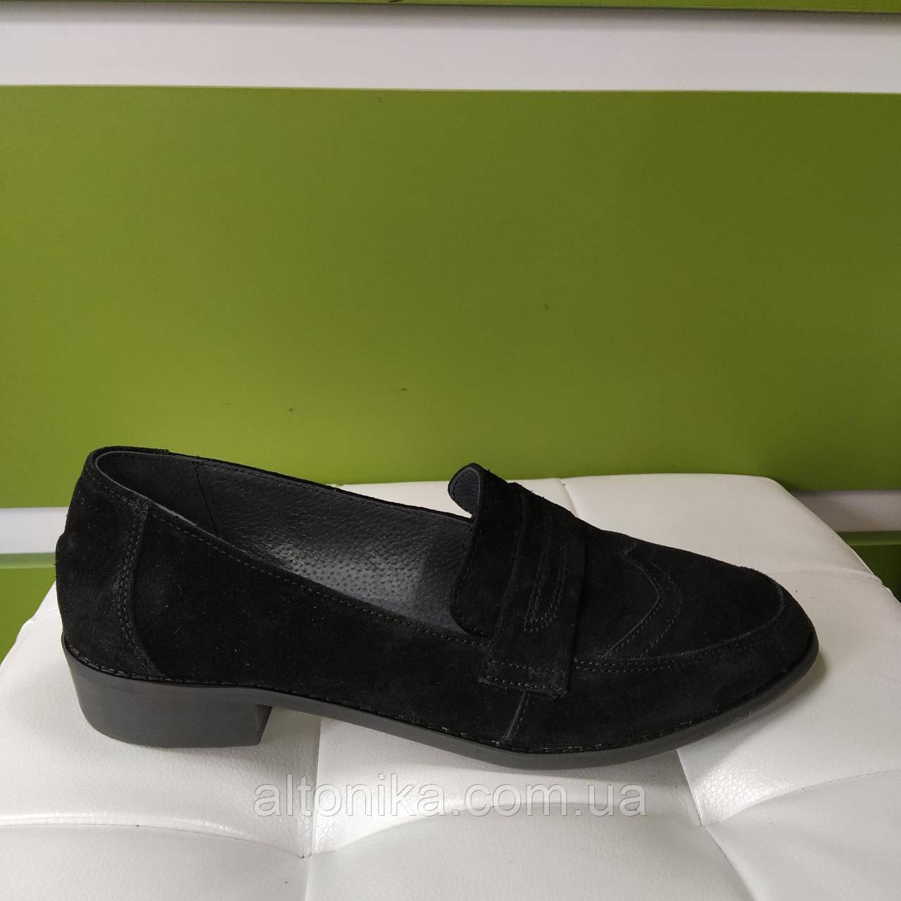 STTOPA Размеры 42-44. Туфли лоферы больших размеров кожаные. С6-14-4244-3 Черные