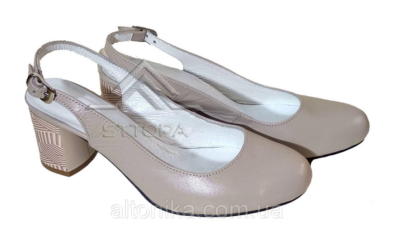 STTOPA 40р-26 см. Размеры 35-44. Кожаные босоножки туфли больших размеров!Каблук 6,5 см. С2-17-3544-65
