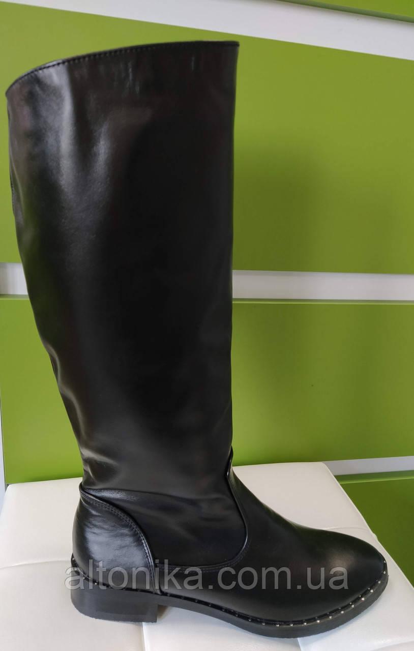 STTOPA деми зима 37-38 см. Размеры 36-41. Сапоги кожаные больших размеров! С10-26-3641-35-3643 Черные