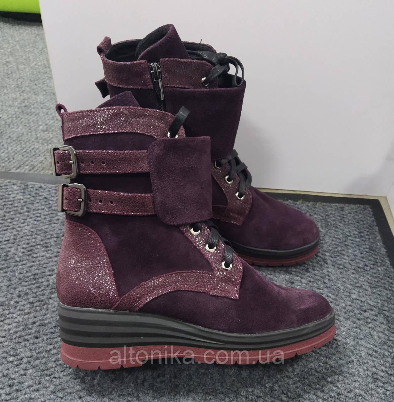 STTOPA деми зима. Размеры 36-41. Ботинки кожаные больших размеров! С9-56-3641-55-3641 Бордовые