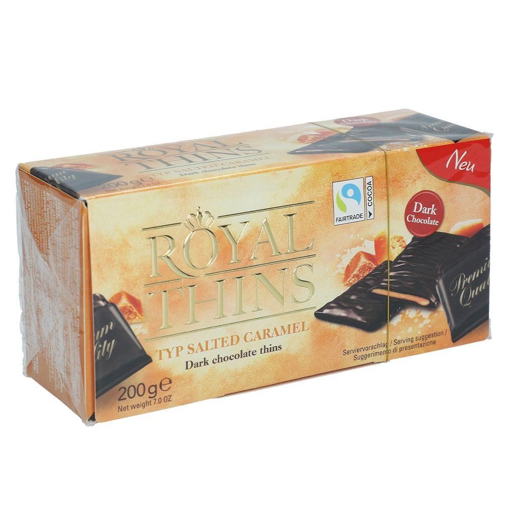 Конфеты шоколадные Royal Thins с соленой карамелью 200 г Германия