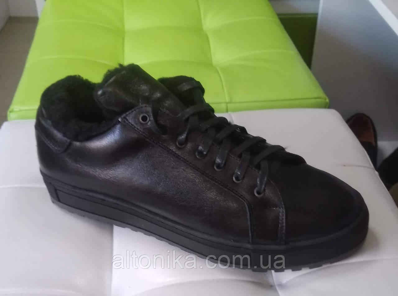 STTOPA зима. Размеры 40-45. Ботинки кожаные больших размеров. С-9-44-4045-35-4045 Черные