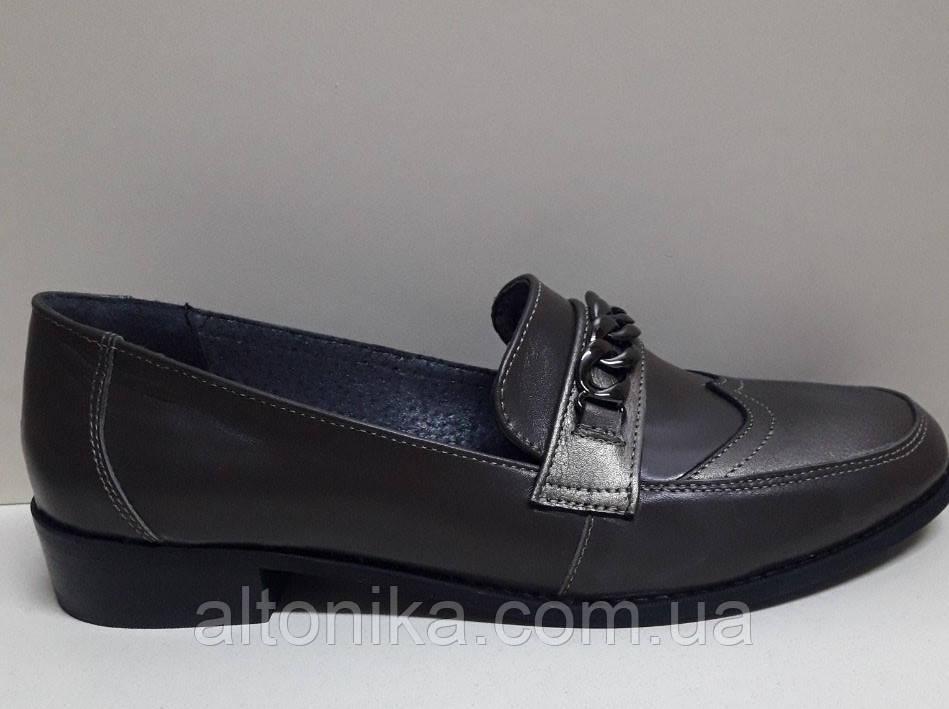 STTOPA 42р-28 см. Размеры 42-44! Туфли лоферы больших размеров из натуральной кожи. С6-24-4244-3