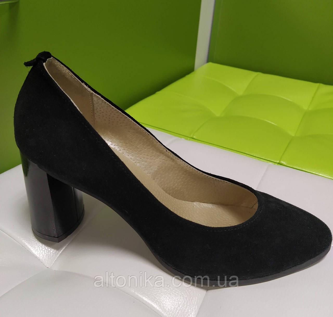STTOPA 44р-29 см. Размеры 33-44! Туфли кожаные больших размеров. Каблук 8 см. Черные. С7-17-4144-8-3344