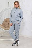 Женский костюм спортивный, ткань : турецкая трех нитка - высокого качества С НАЧЕСОМ, с карманами, в принт  (4, фото 1