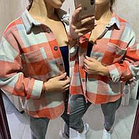Женская рубашкасо спущенным рукавом,очень теплая, (ТУРЦИЯ) на пуговицах(хс-ххл), фото 1