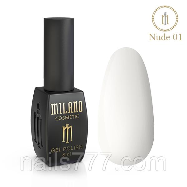 Гель Лак Milano Nude Collection 8 мл, №01