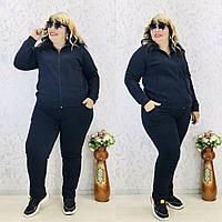 Женский спортивный костюм,ТКАНЬ ТУРЕЦКАЯ 3-Х НИТКА ( НА ФЛИСЕ) теплый с капюшоном(52-56), фото 1