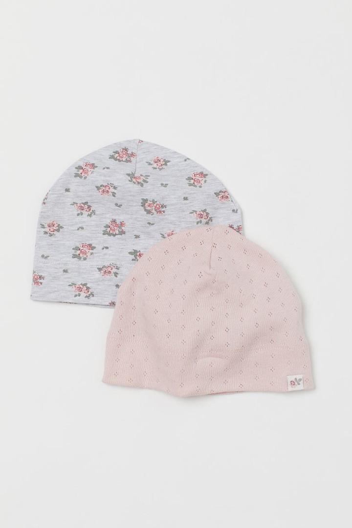 Симпатичні трикотажні шапочки НМ для дівчинки (поштучно)