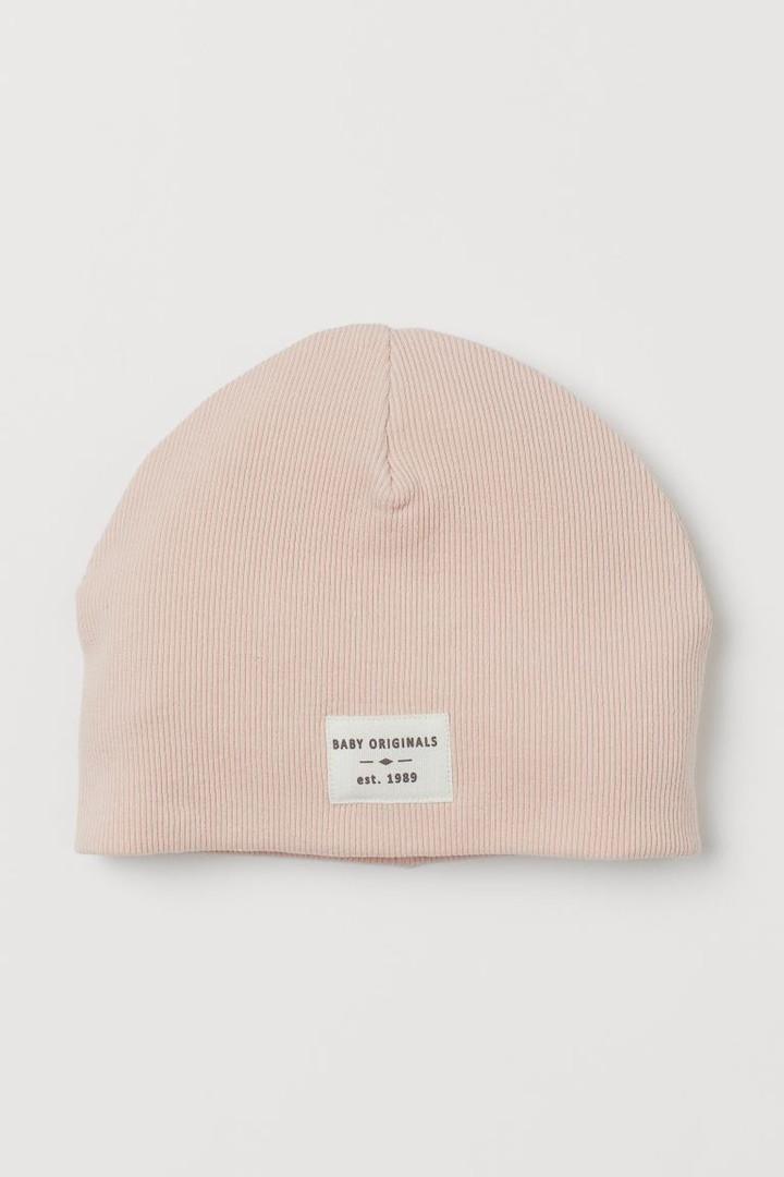 Двухслойная демисезонная шапочка нежно-розового цвета для девочки НM