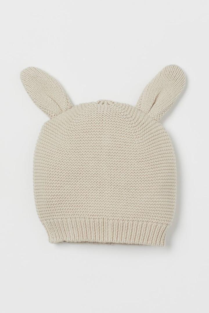 Вязанная демисезонная шапочка с ушками НM для девочки