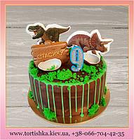 Торт Динозавры с пряниками