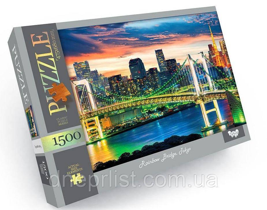 Пазл 1500 элементов / Мост в Токио (Rainbow Bridge, Tokyo)