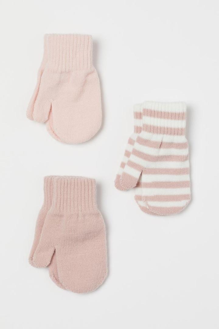 Детские вязанные варежки НМ для девочки (поштучно)