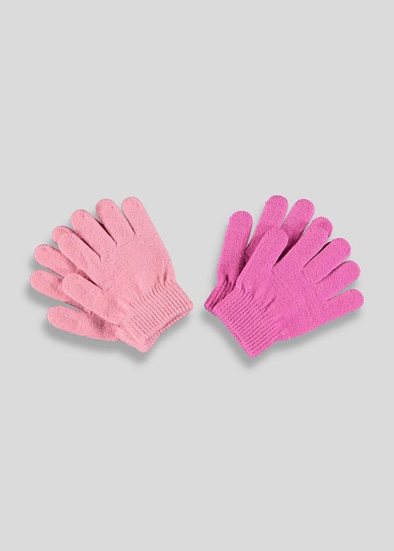 Детские вязанные перчатки 2 пары Маталан для девочки